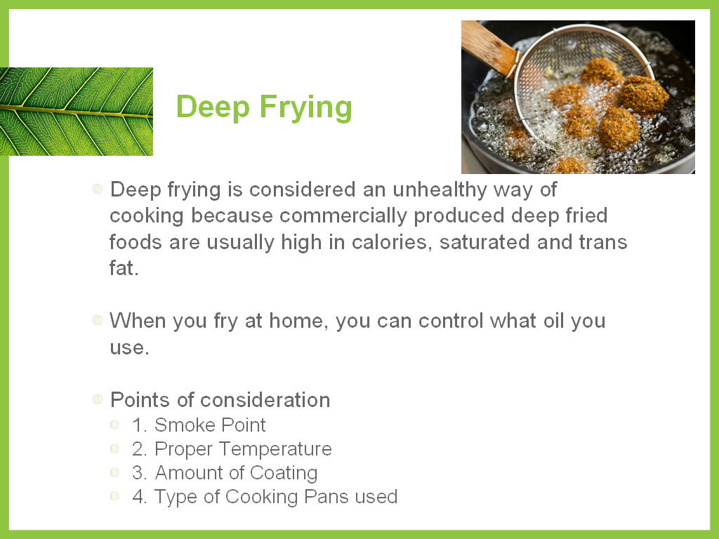 Oil - Deep Frying