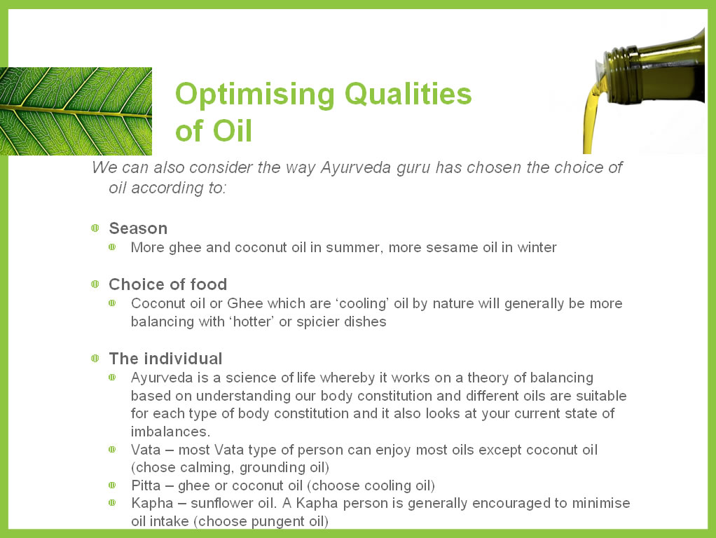 Optimising Qualities of Oil 2