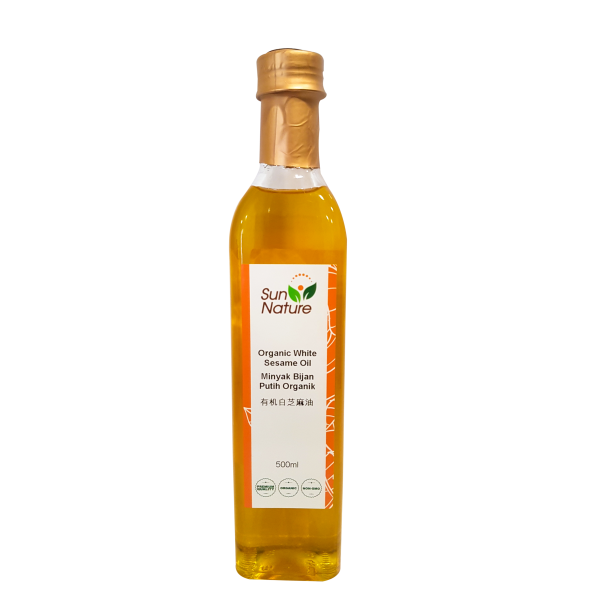 Sun Nature Organic Cold Pressed White Sesame Oil